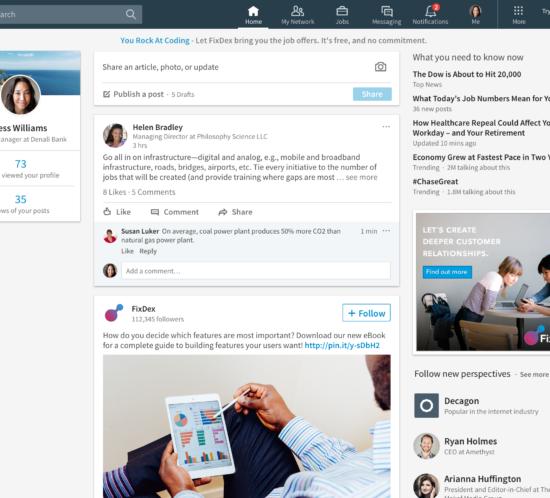 Linkedin-feed